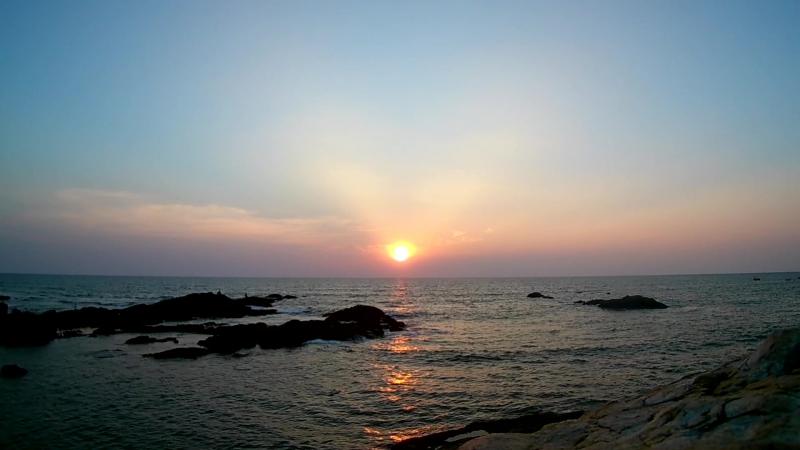 Sunset Vagator Beach 07 11 17