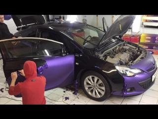 Демонтаж пленки Opel Astra J
