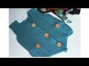 детский жилет спицами платочной вязкой часть 2