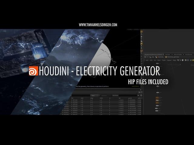 Houdini Tutorial - Electricity Generator