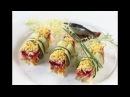 Restaurant Food Presentation ресторанная красивая подача салатов и блюд .Оливье, Селедка под шубой