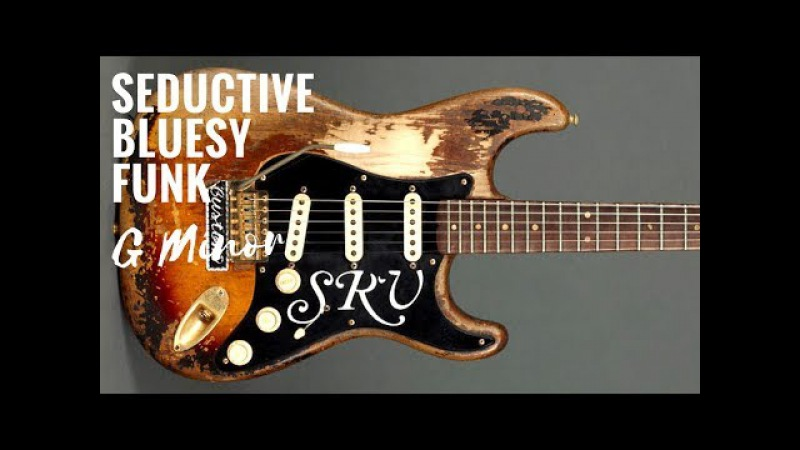Seductive Bluesy Funk | Guitar Backing Track Jam in Gm