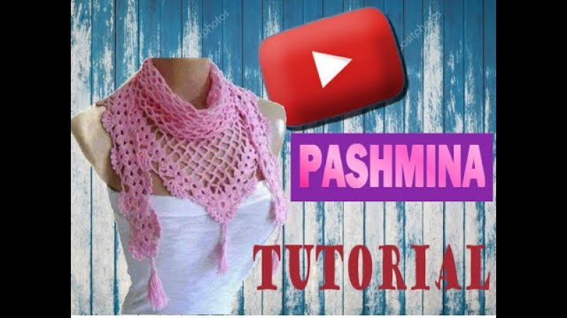 Pashmina, chalina, cuello tutorial