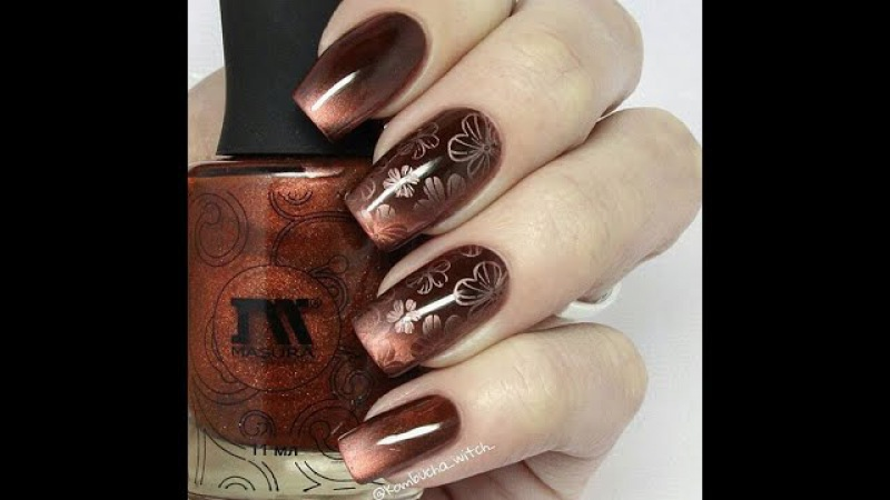 Стемпинг дизайн магнитным лаком MASURA / Stamping Nail Art with MASURA Magnetic Nail Polish