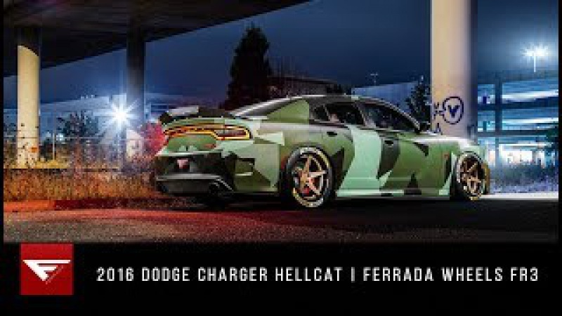 Dominating the Streets 2016 Dodge Charger Hellcat Ferrada Wheels FR3