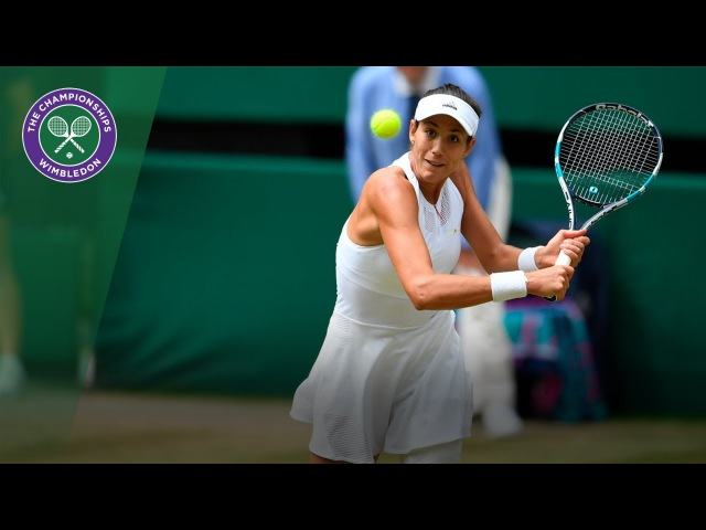 Garbiñe Muguruza v Magdalena Rybarikova highlights - Wimbledon 2017 semi-final