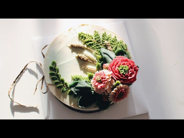 앙금플라워 거베라데이지,수입장미,잎사귀 White kidney bean paste flower piping flower cake