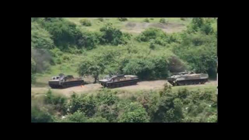 Индонезийские морпехи атакуют на БМП-3Ф