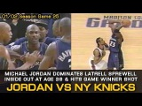 Michael Jordan Dominates Latrell Sprewell Inside Out &amp Game Winner For Wizards (12.22.2001)