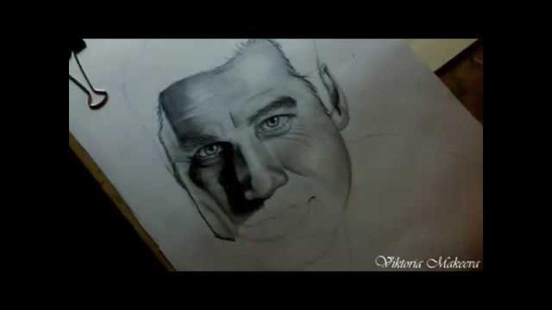 "Джон Траволта Drawing John Travolta Face Off"""