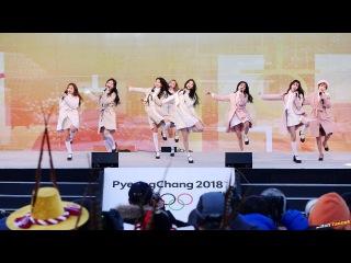 180123 러블리즈 Lovelyz '아츄 Ah-Choo' @양구 평창 동계올림픽 성화 봉송 4K 직캠 by DaftTaengk
