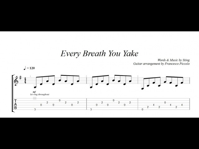 Fingerstyle Guitar - The Police - Every Breath you take (From Hits Collection Nr.3)