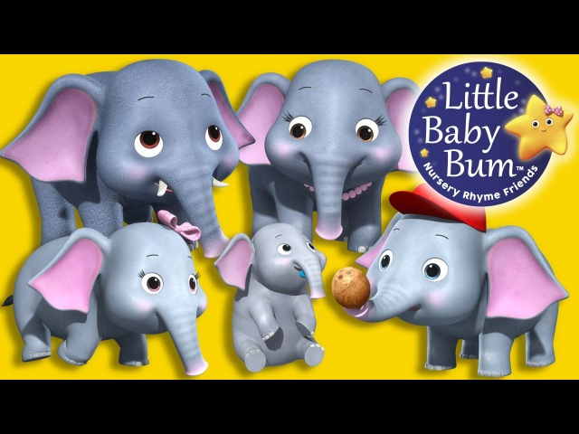 Five Elephants Having A Wash Nursery Rhymes Original Song By LittleBabyBum