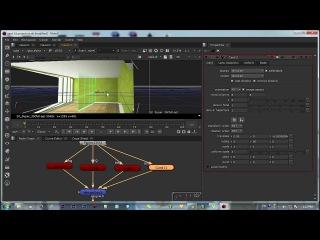 3d room environment - card node 3d projection nuke tutorial