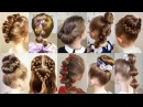 10 cute 1-MINUTE hairstyles for busy morning! Quick Easy Hairstyles for School!