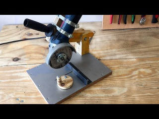 Making a Homemade Angle Grinder Stand - El Yapımı Metal Kesme Standı making a homemade angle grinder stand - el yapımı metal kes