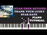 Michael Giacchino - Thank Your Lucky Star Date (Piano Tutorial)