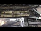 Как защитить радиатор от попадания камней Установка сетки в бампер Audi A3