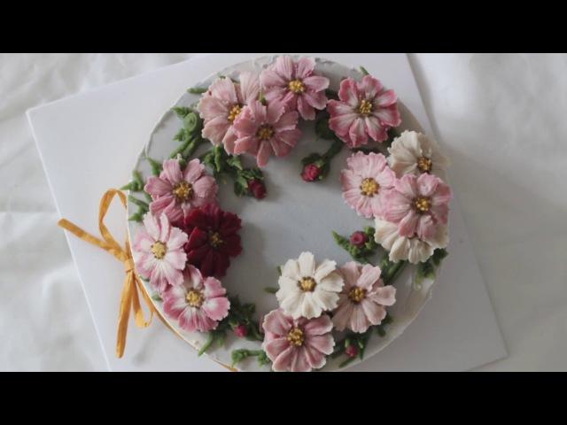 앙금플라워 코스모스 꽃짜기 cosmos flower piping techniques