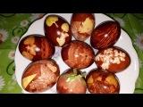 Как покрасить ЯЙЦА НА ПАСХУ в луковой шелухе? Удивительные узоры на пасхальных яйцах
