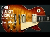 Soulful Bluesy Groove  Guitar Backing Track Jam in A#