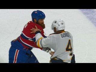 Canadiens' Benn and Sabres' Gorges both land punches in tilt
