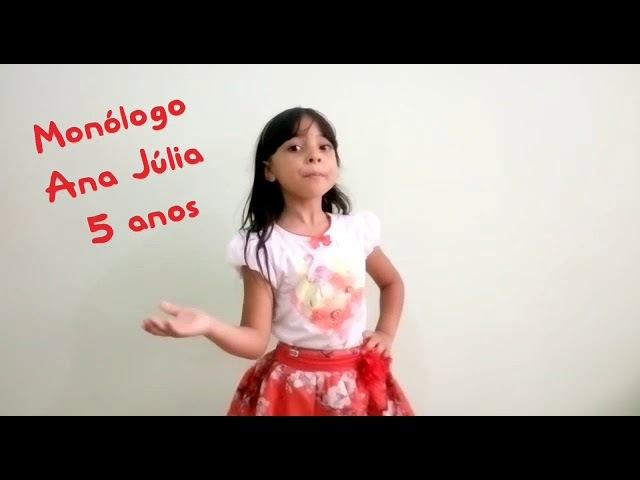 Monólogo Ana Júlia