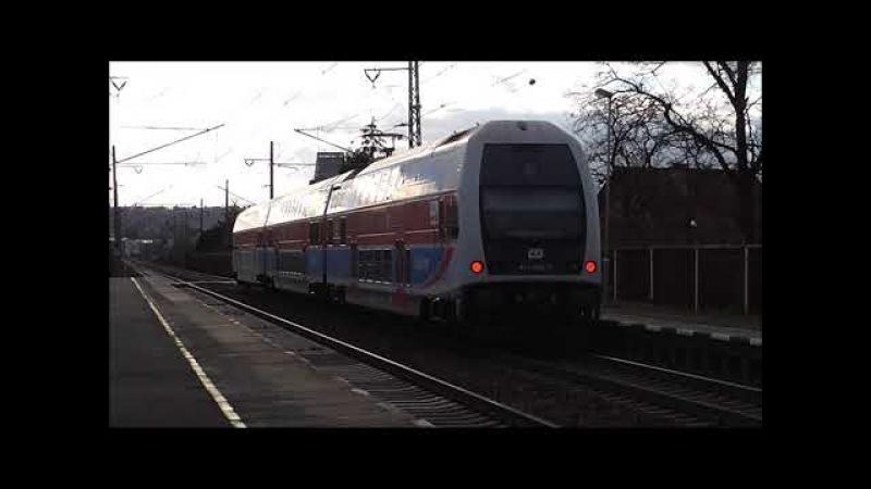 Šocení | Vlaky na zastávce Dobříň 2.2.2018
