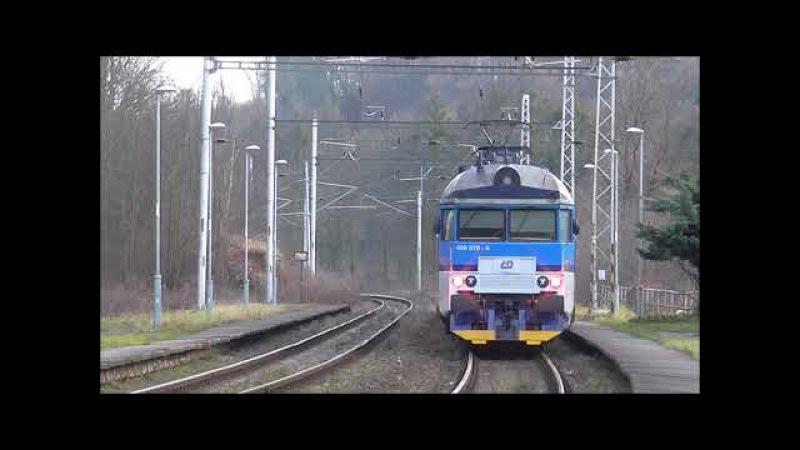 Šocení | Vlaky na zastávce Teplice nad Bečvou 27.12.2017