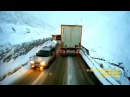 Modern Enigma style - Sadness Love Night. Extreme road Kavkaz mountains Truck travel ride mix