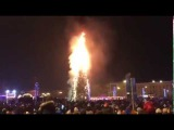 Christmas Tree On Fire In Russia! Горит Ёлка в Южно-Сахалинске 01/01/2018