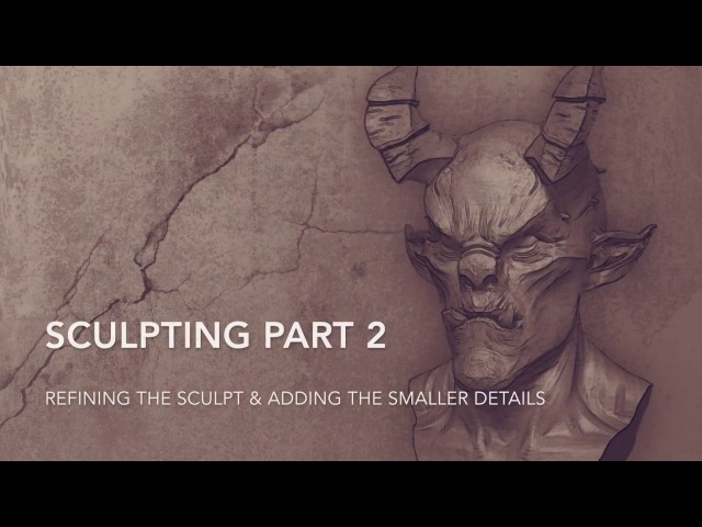 Sculpting Demo with ZBrush Core the Wacom Intuos 3D Part 2/2