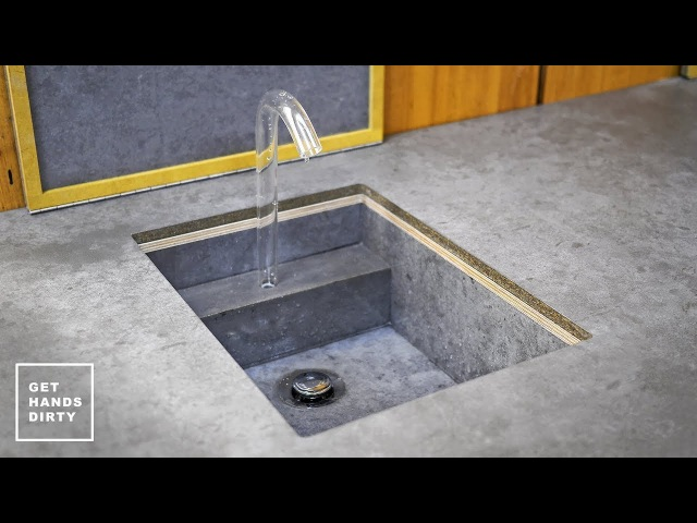 How to Make a Sink, Countertop, Tap and Water System Studio Kitchen - Ep. 3
