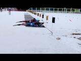 Контрольная тренировка мужской сборной России по биатлону. Второй огневой рубеж в гонке преследования (ноябрь 2017)