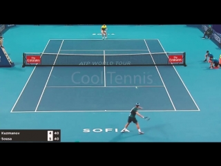 Теннис. ATP. София. Хард Кузманов Димитар Соза Жуан 0:2 (6:7, 1:6)