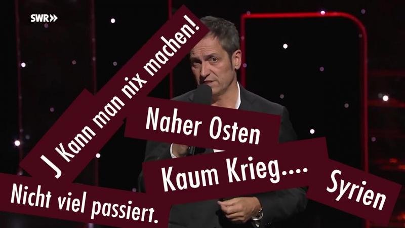 Einer der übelsten Merkel-System-Satiriker der frei rumläuft - is ja Nuhr Satire….
