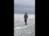 Вот что стало с озером Иссык-Куль после сильных морозов. Страшно смотреть.