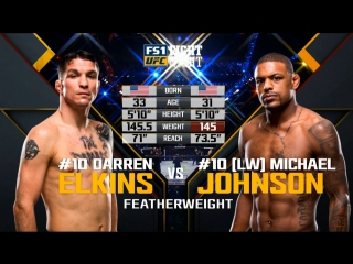 UFC FIGHT NIGHT ST. LOUIS Darren Elkins vs Michael Johnson