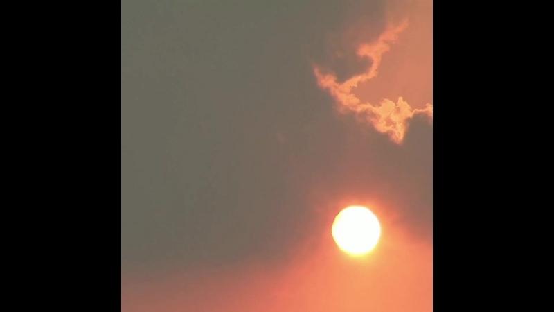 Восход Солнца Небо Облака