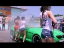 BMW Car wash show on Russian sexy girls