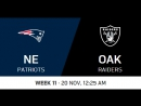 NFL 2017 / W11 / New England Patriots - Oakland Raiders / CG / EN