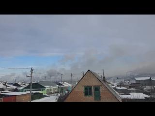 Пыхтит. 17.02.18 (вид с ул.Рысакова)