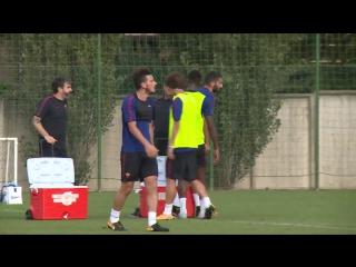 Эффектный гол Алессандро Флоренци на тренировке «Ромы»