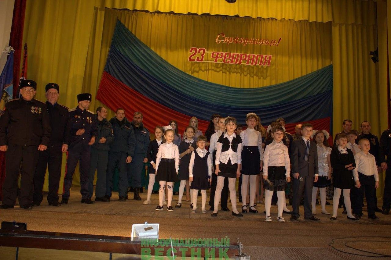 Казаки ВВД Кировска провели для учащихся школы№1 урок мужества к Дню защитника Отечества
