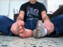 Teen boy dirty ripe socks and smelly feet