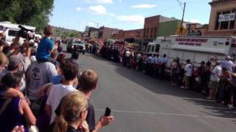 Funeral Procession for the 19 Granite Mountain Hotshots Lost...Prescott, AZ