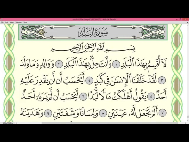 Practice reciting with shaykh Ayman Swayd -AL-FAJR/AL-BALAD, p.594