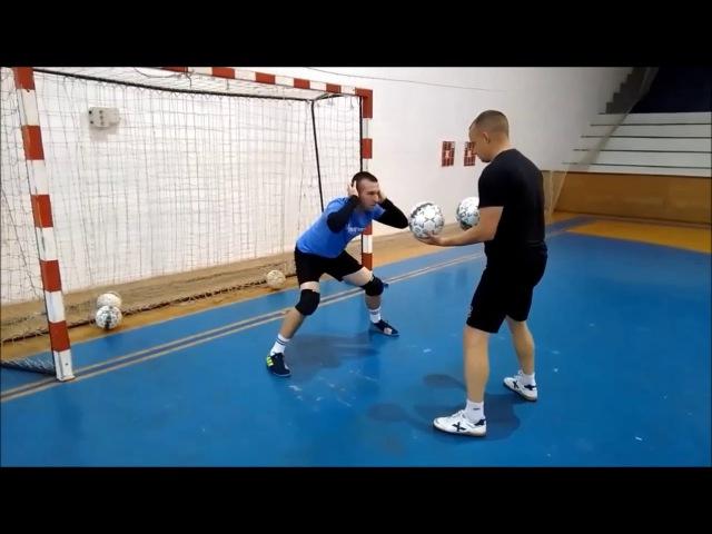 Futsal goalkeeper training - compilation October 2017