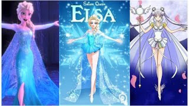 Le Principesse Disney si Trasformano in Guerriere Sailor Moon Prima e dopo Personaggi Femminili