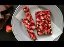 美味 ドライストロベリーで作るチョコレートバーク Dried strawberries chocolate bark